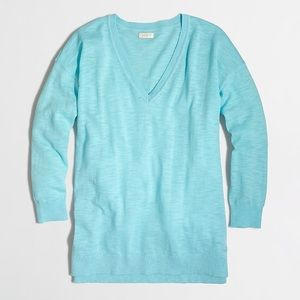 NWT J. Crew Slub Cotton V-Neck Sweater